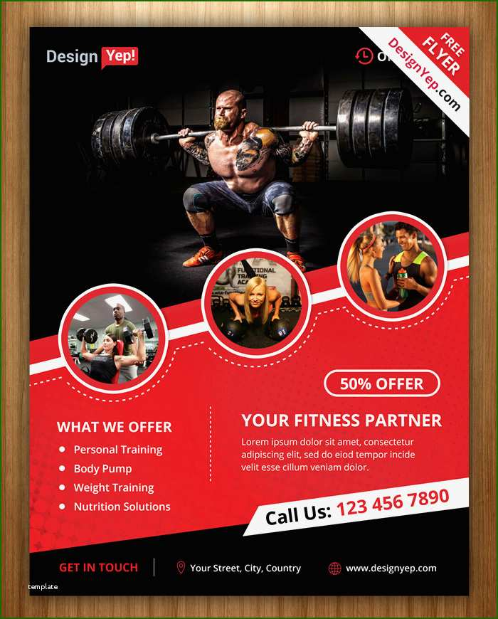 Admirable Fitness Flyer Template Free
