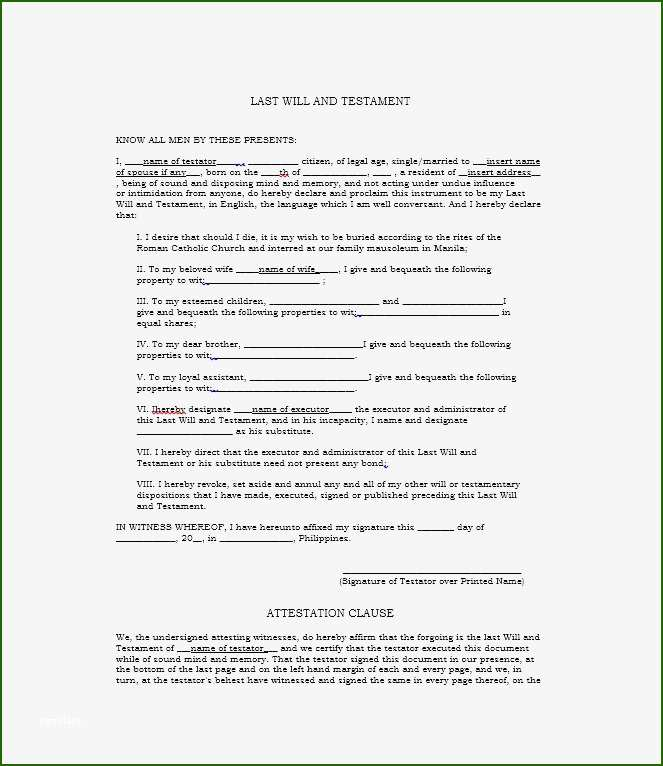 shocking last will and testament template 2020 template. Black Bedroom Furniture Sets. Home Design Ideas