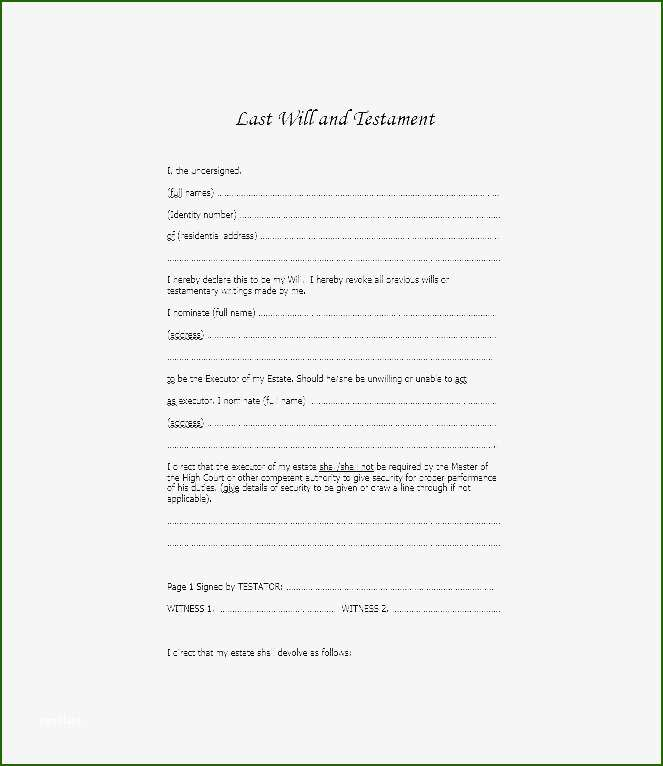 terrific 39 last will and testament forms templates. Black Bedroom Furniture Sets. Home Design Ideas