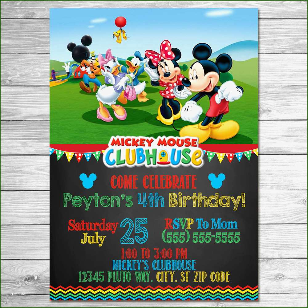 Fab Template: Ideal Mickey Mouse Clubhouse Birthday Invitation Forever