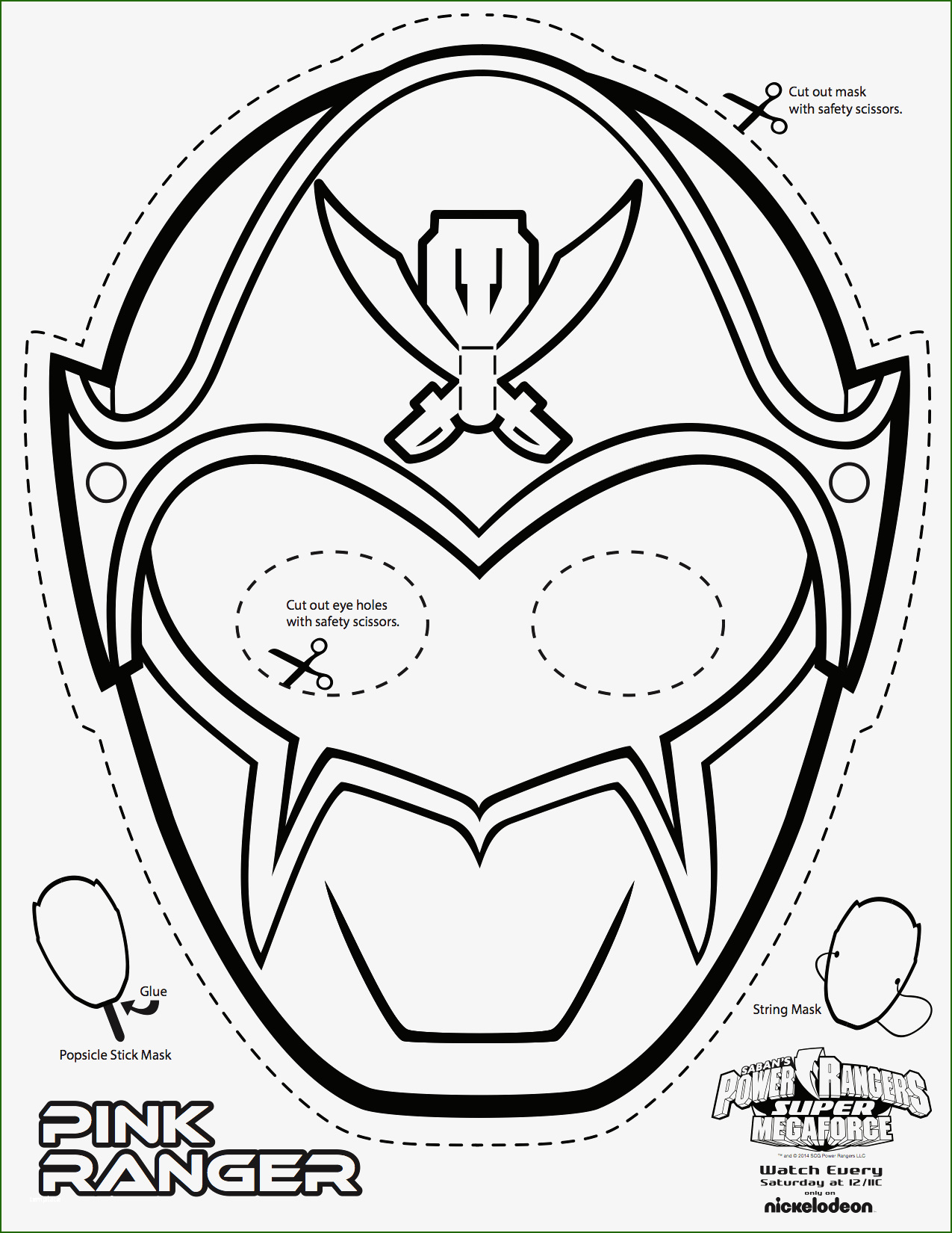 skillful power ranger mask template that will wow you