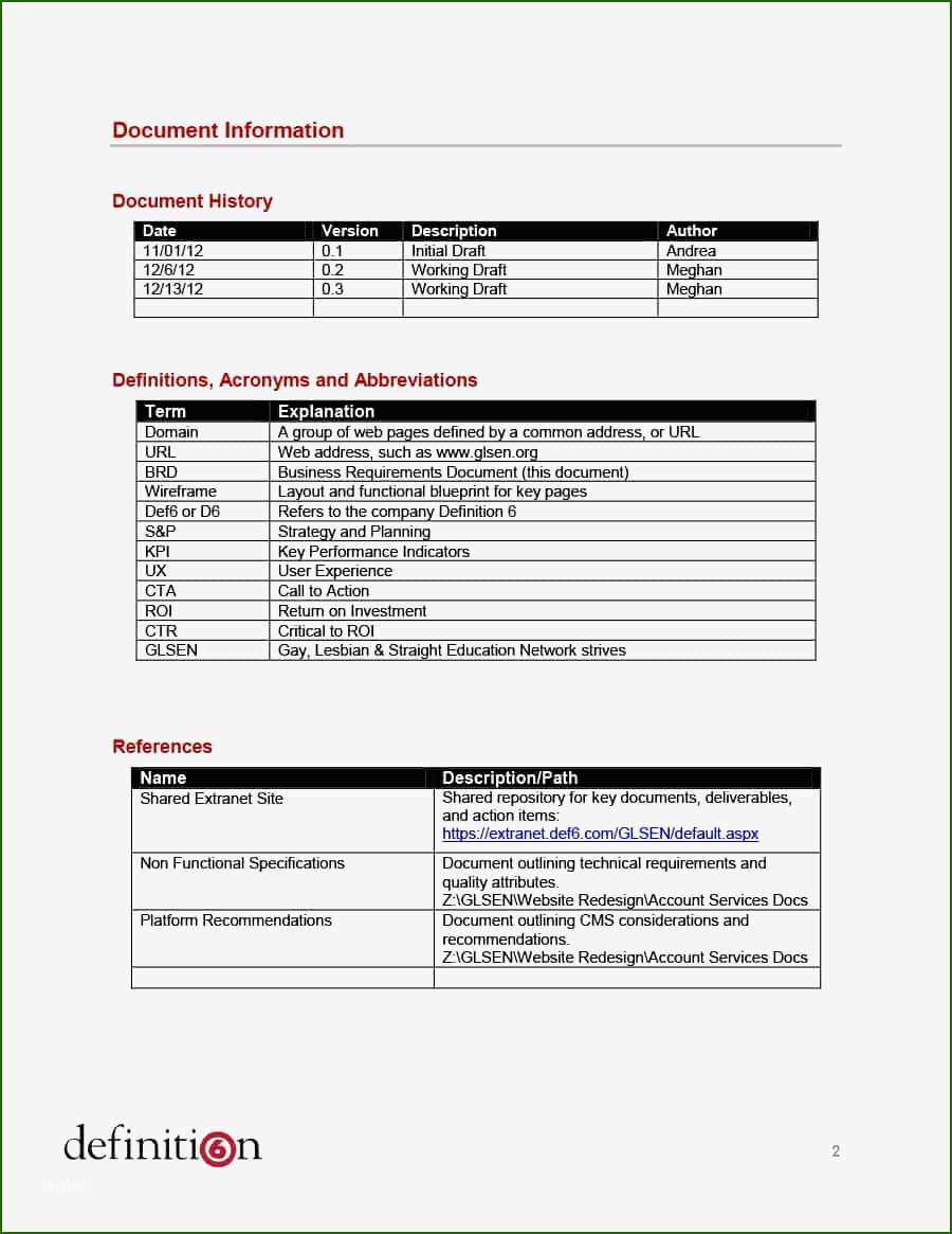 phenomenal sample technical requirements document template